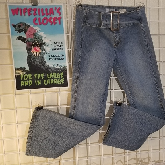 Jordache Denim - Jordache low-rise stretch blue jeans Sz 13/14